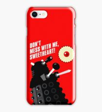 Dalek - the Doctor employs a jammie dodger iPhone Case/Skin