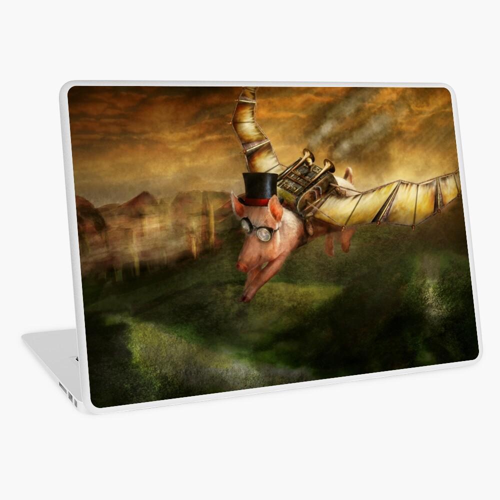 Flying Pig - Steampunk - The flying swine Laptop Skin