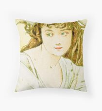 October from the 1889 Calendar by Alphonse Mucha Throw Pillow