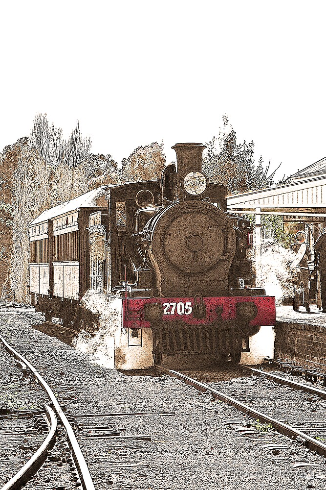 Engine 2705 at Thirlmere # 2 by George Petrovsky