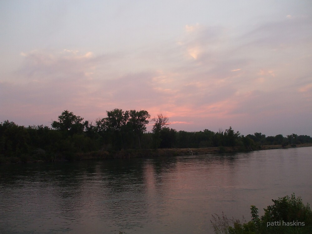 Sacramento River Sunset by patti haskins