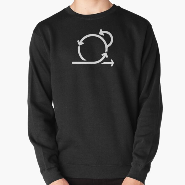 Minimal scrum logo white - agile project management Pullover Sweatshirt