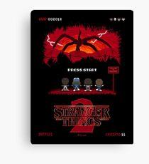 16-bit Stranger Things 2 Canvas Print