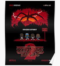 16-bit Stranger Things 2 Poster