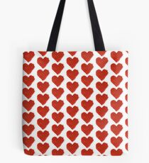 PAINTED RED HEART Tote Bag