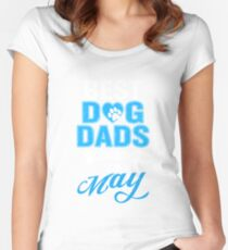 Best Dog Dads Are Born In May Funny Birthday Women's Fitted Scoop T-Shirt