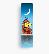 Board/Bored Monkey Night Reflection with Moon Canvas Print