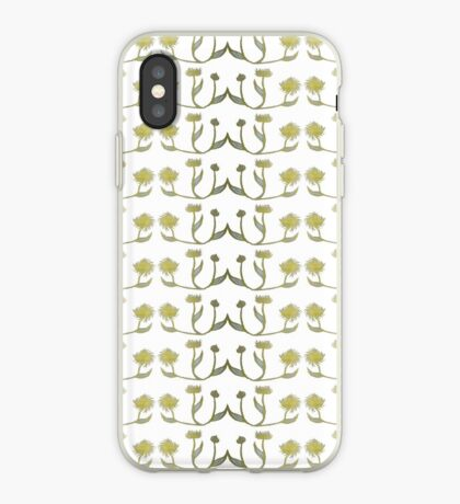 Gilded Painted Plants iPhone Case