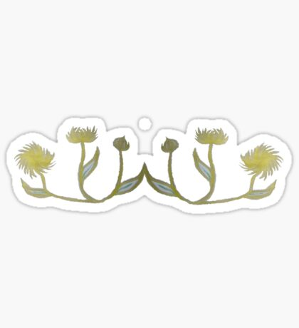 Gilded Painted Plants Sticker