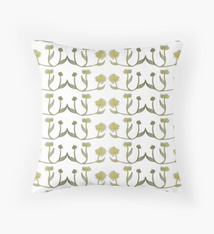 Gilded Painted Plants Floor Pillow