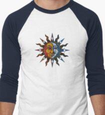 Celestial Mosaic Sun/Moon Baseballshirt mit 3/4-Arm