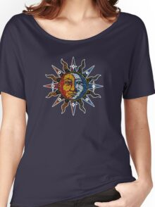 Celestial Mosaic Sun/Moon Women's Relaxed Fit T-Shirt