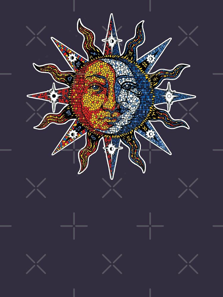 Celestial Mosaic Sun/Moon von sandersart