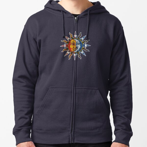 Celestial Mosaic Sun/Moon Zipped Hoodie