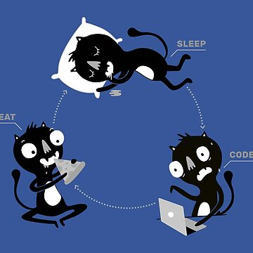 Sleep, Code, Eat - Programming by blushingcrow