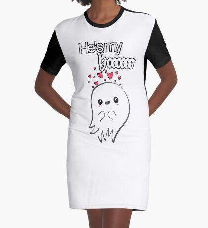 He's my Boooo! Graphic T-Shirt Dress