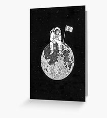 Lonely astronaut. Greeting Card