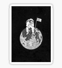 Lonely astronaut. Sticker