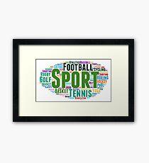 Tag cloud sport Framed Print