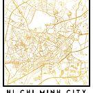 HI CHI MINH CITY STREET MAP ART by deificusArt