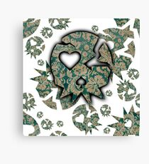 Vintage Old Skull By Funk You! Canvas Print
