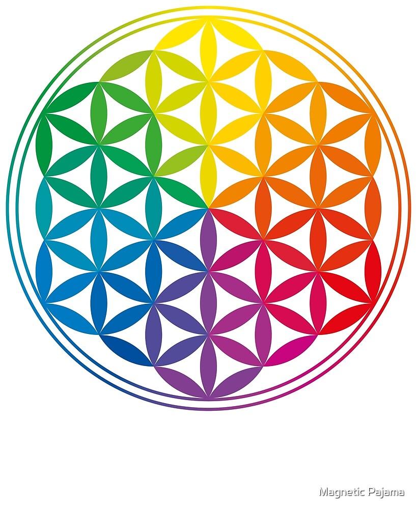 «Geometría Sagrada de la Flor de la Vida // Diseño del Arco Iris» de MagneticMama
