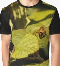 Hover-fly on a leaf Graphic T-Shirt