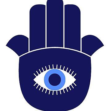Blue Hamsa by symbols
