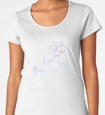 Camiseta premium para mujer BTS - Love Yourself Black Version