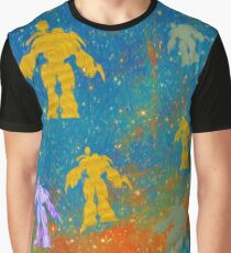 Robots-Space-Sci-fi Fantasy Graphic T-Shirt