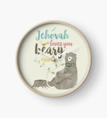 Jehovah Loves You Beary Much Clock