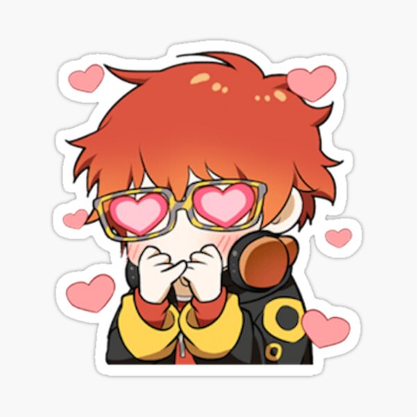 Emoticon Mystic Messenger: 707 Pegatina