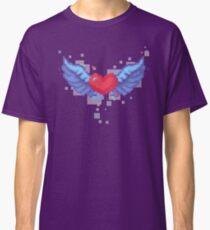 8 bit pixel heart with wings Classic T-Shirt