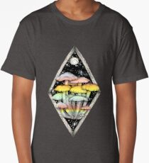 Rainbow Mushrooms || Psychedelic Illustration by Chrysta Kay Long T-Shirt