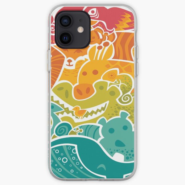Animal Rainbow iPhone Soft Case