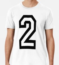 2, TEAM, SPORTS, NUMBER 2, TWO, SECOND, Twice, Duo, Couple, Competition Premium T-Shirt