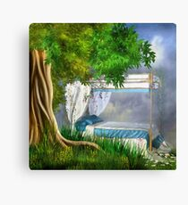 Beauty's Bed Canvas Print