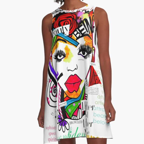ARTFIRMATION COLLECTION - BEING ME  A-Line Dress