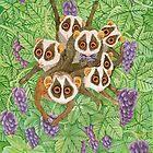 Monkey Loris Family by Ruta Dumalakaite