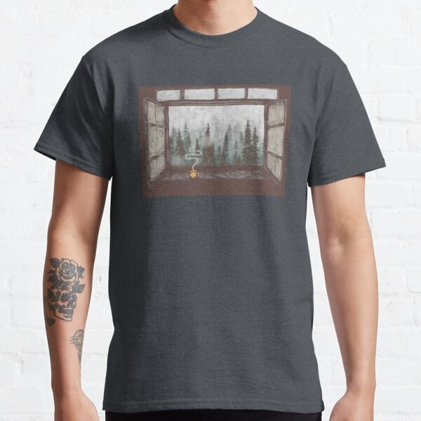 Foggy Forest Window || Cozy Fall Illustration Classic T-Shirt