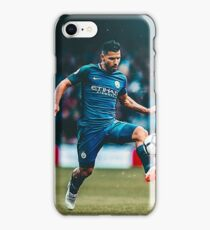 Kun Aguero with the ball iPhone Case/Skin