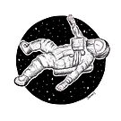 Floating Astronaut by galacticdragon
