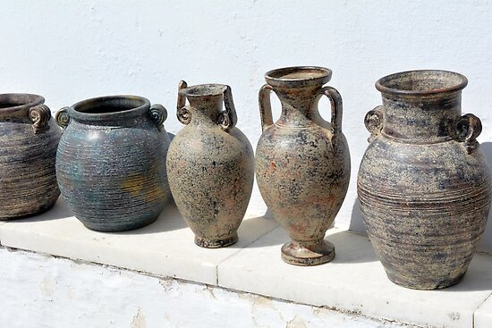 Greek Pottery Ancient Vases Posters By Oanaunciuleanu Redbubble