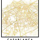 CASABLANCA MOROCCO CITY STREET MAP ART by deificusArt