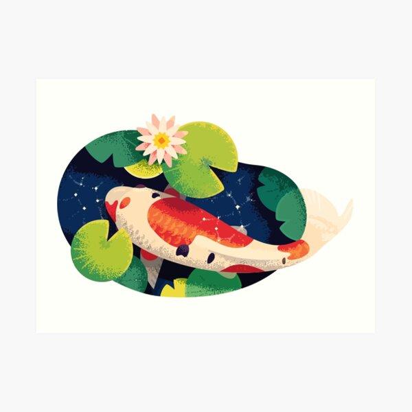 Koi Fish Pond  Art Print