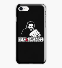 Beer and sausages contest iPhone Case/Skin