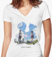 Kimi no na wa  your name. Women's Fitted V-Neck T-Shirt