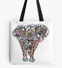 Illustrative Elephant Ganesh Drawing Tote Bag