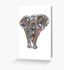 Illustrative Elephant Ganesh Drawing Greeting Card