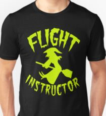 witch on a broomstick flight instructor HALLOWEEN T-Shirt